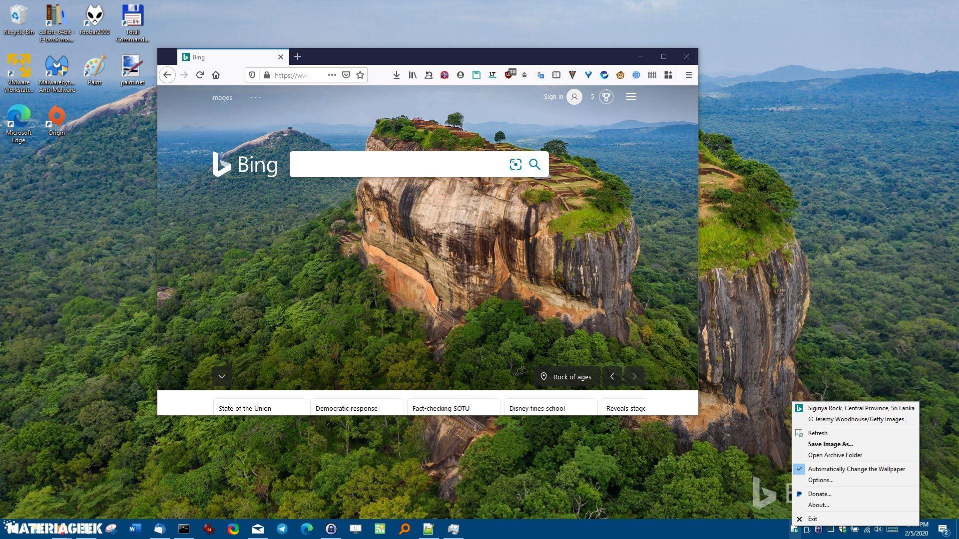 BingSnap es un programa gratuito que puede descargar el fondo de pantalla del Bing diario y ponerlo como fondo de escritorio